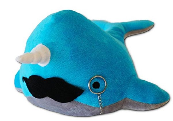 Kimler Narwhal Plush with Mustache and Monocle