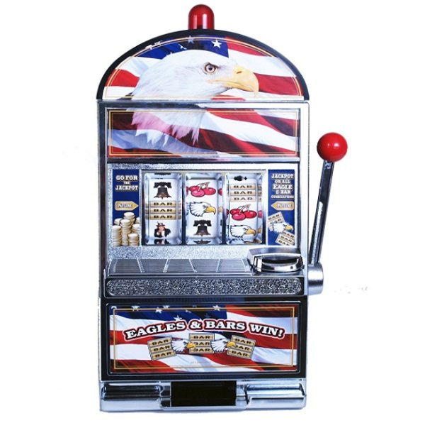Miniature John N. Hansen Eagle Slot Machine