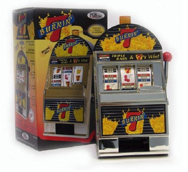 Miniature Burning 7's Slot Machine