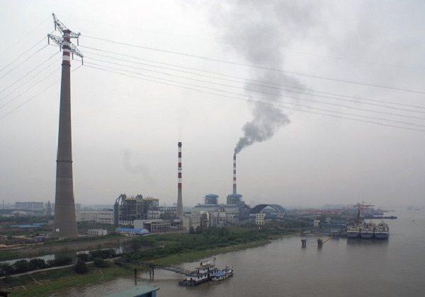 Pylons of Pearl River Crossing, China