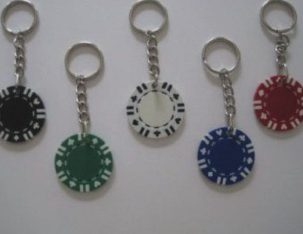 Casino Chips Used to Make Keychains