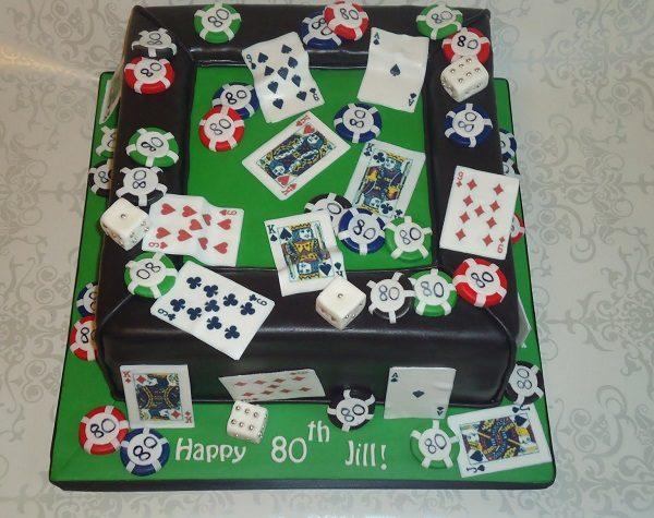 Casino Themed Birthday Cake
