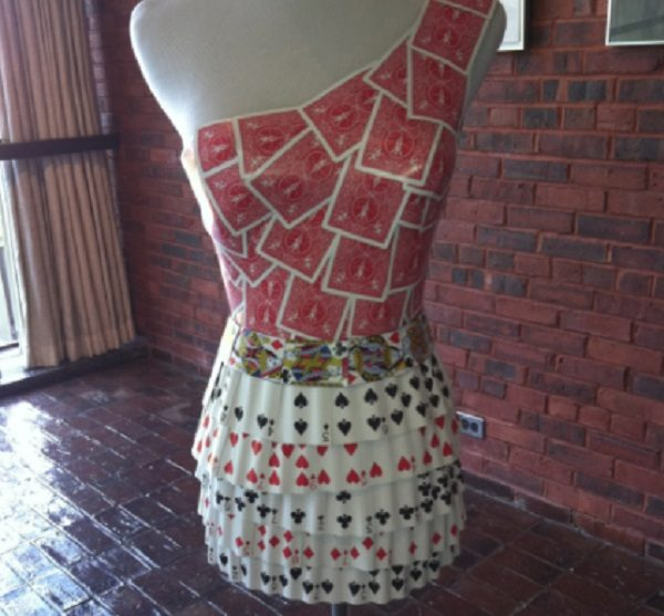 Old Playing Cards Used to Make a Dress