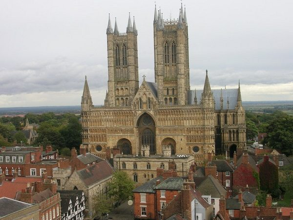 Tower of Lincoln Cathedral, UK