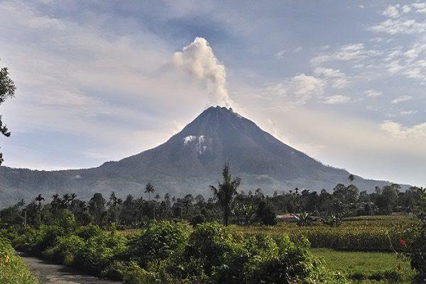 Mount Sinabung Volcano, Indonesia