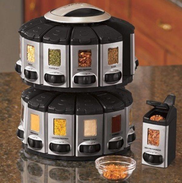 Auto Measure Spice Dispenser Spice Rack
