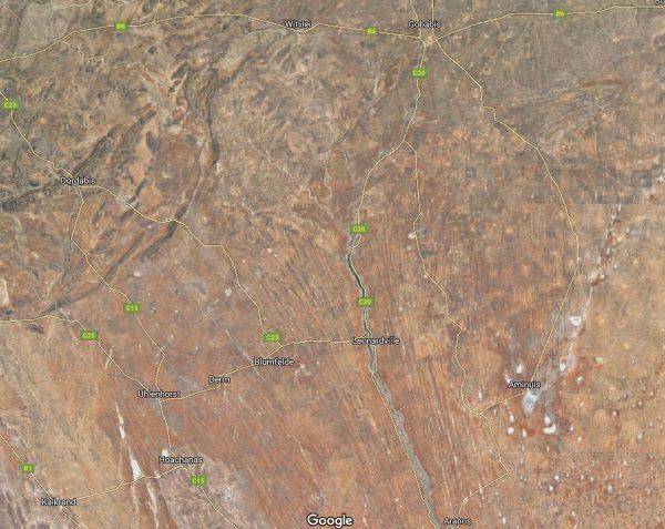 Kalahari Desert in Africa