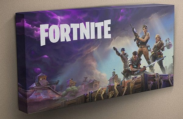 Fortnite Mounted Canvas Art
