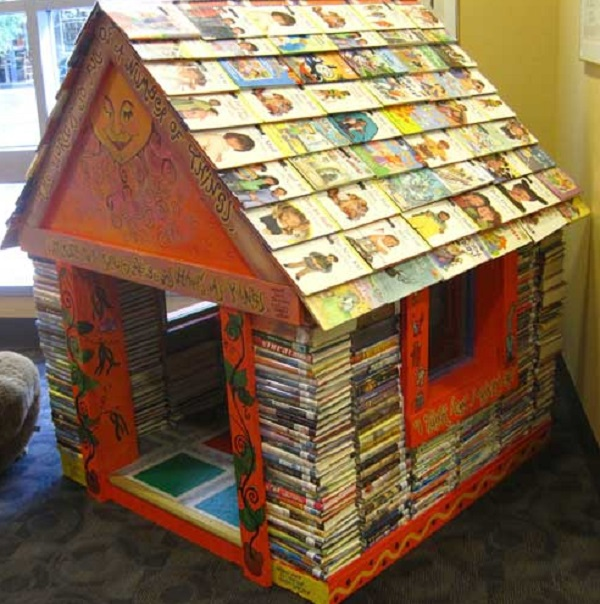 Play House made from old books