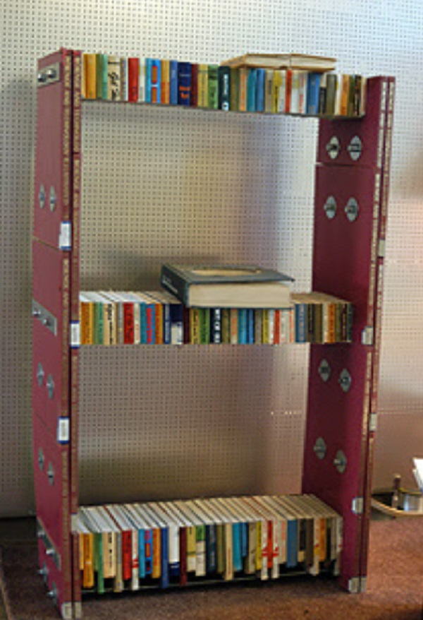Book shelf made from old books