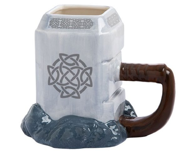 Ceramic Sculpted Mug in the Shape of Thor's Hammer