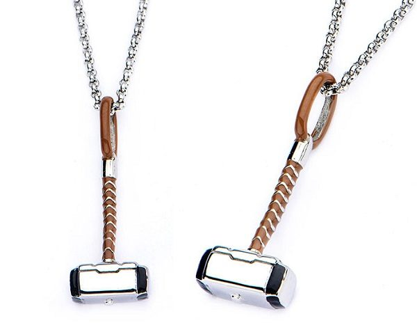 Necklace Pendant in the Shape of Thor's Hammer