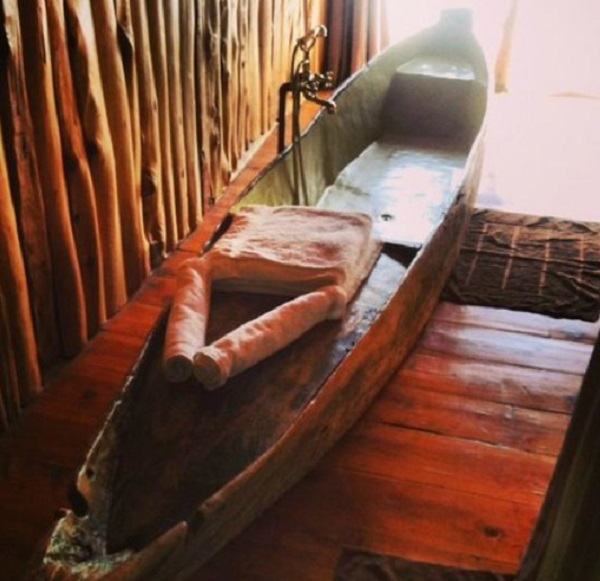 Canoe/Kayak Used to make a bathtub