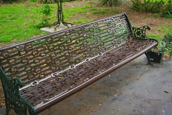 Spanners Turned Into a Park Bench