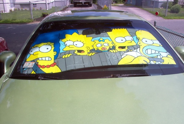 The Simpsons Universal Car Sunshade
