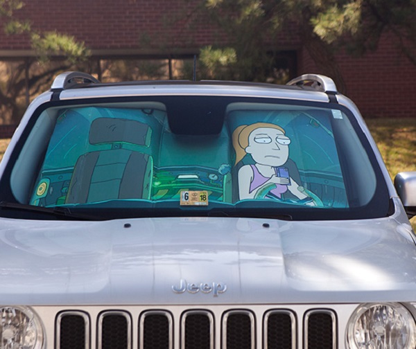 Keep Summer Safe scene (Rick and Morty) Universal Car Sunshade