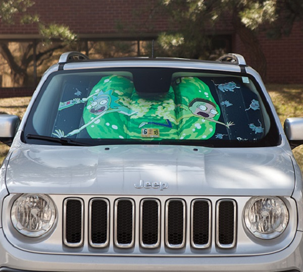 Portal Jump (Rick and Morty) Universal Car Sunshade