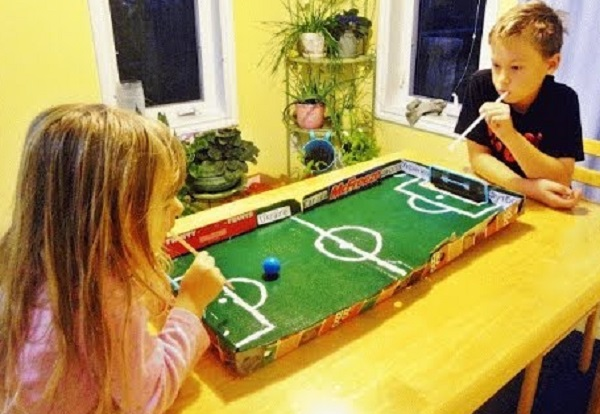 Pizza Box Football Table