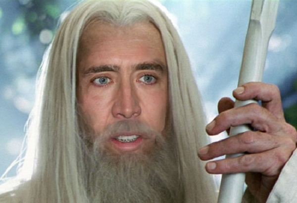 Nicolas Cage as Gandalf