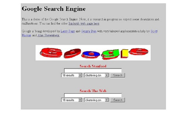 This is what Google.com used to look like!