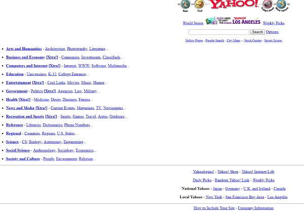This is what Yahoo! used to look like!