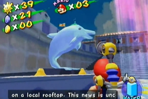 References to Project Dolphin in Super Mario Sunshine