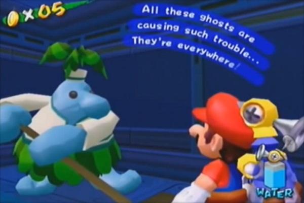 Reference to Luigi's Mansion