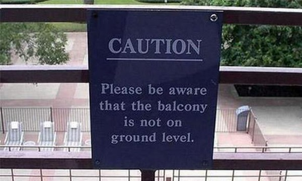 Caution: Balcony May Not Be Where You Think it Is