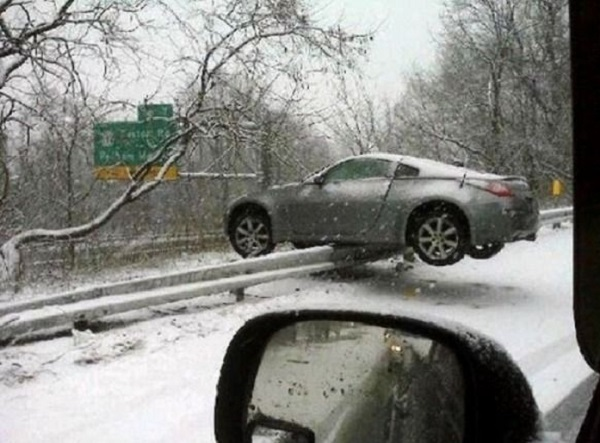 Drive with Plenty of Caution when it's Raining and in the Snow