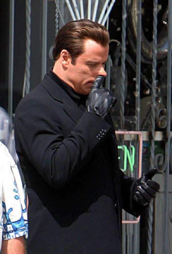 John Travolta Picking His Nose