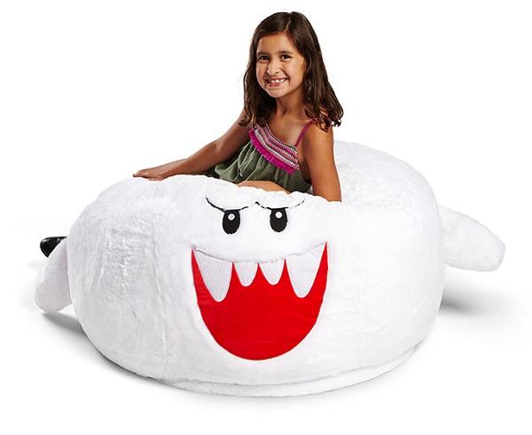 Super Mario Character Boo Ghost Beanbag Chair