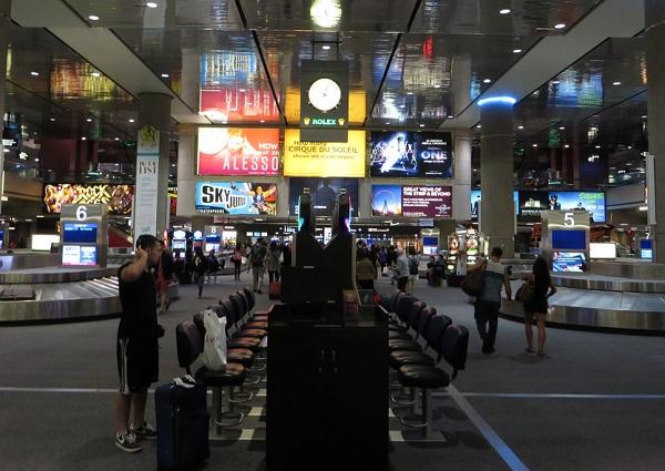 Gambling at airports