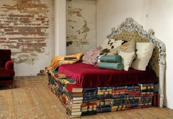 A Bed Made From Books
