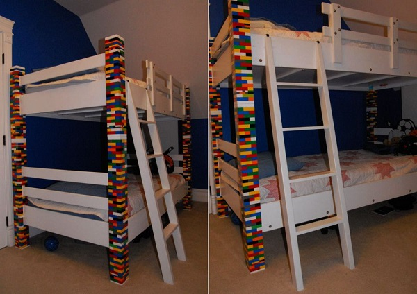 A Bunk Bed Made From Lego