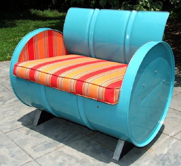 An Armchair Made From a Recycled Oil Drum