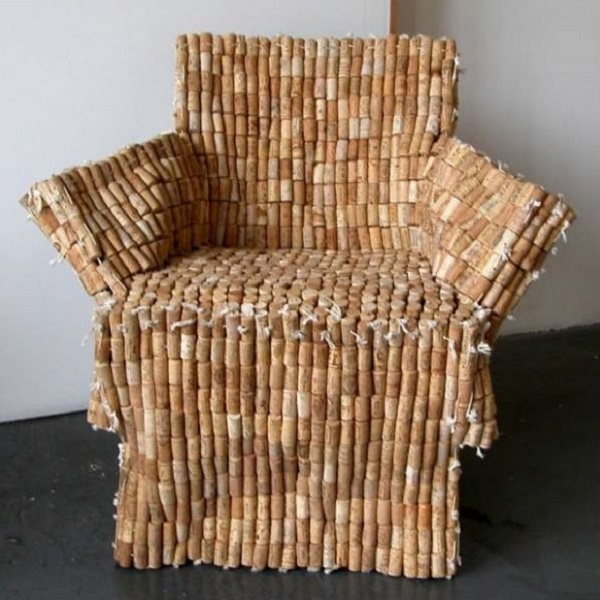 An Armchair Made From Recycled Corks