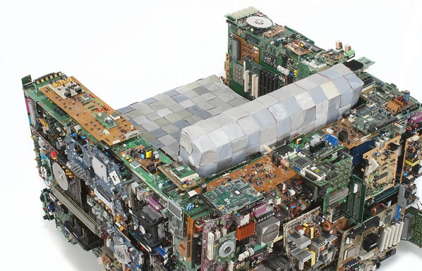 An Armchair Made From Recycled Computer Parts