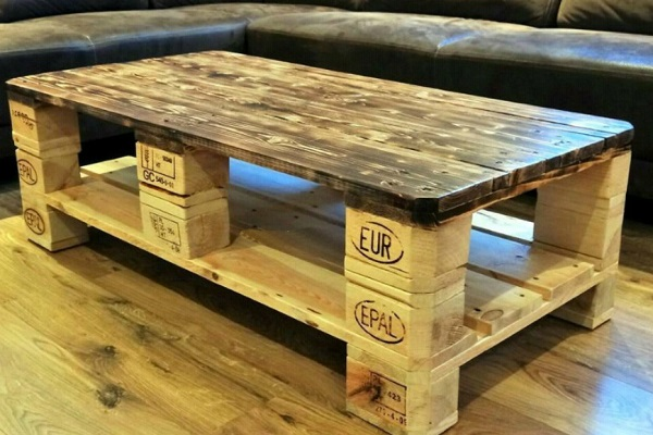 A Coffee Table Made From Recycled Wooden Pallets