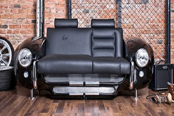 A Sofa Made From Car Parts