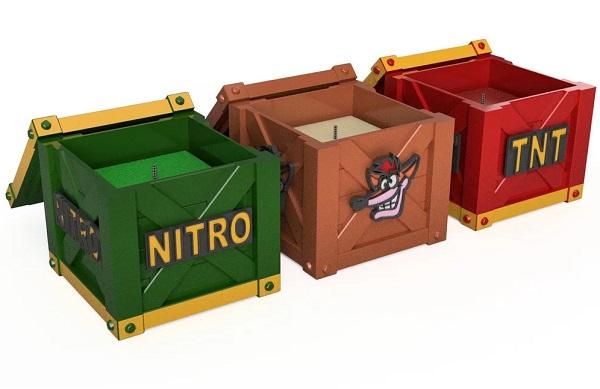 Crash Bandicoot Crate Candles