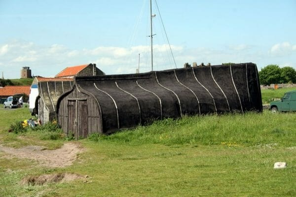 A Garden Shed Made From an Old Boat