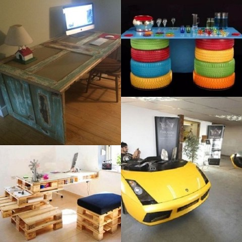 Ten Amazing Office Desks Made From Recycled Things
