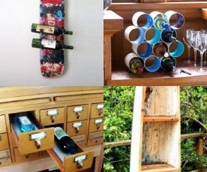 Ten Amazing Wine Racks Made From Recycled Things