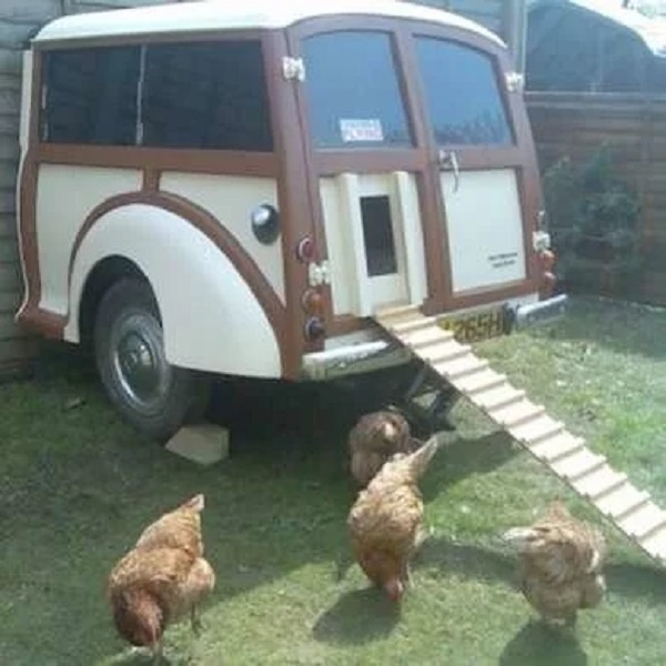A Chicken Coop Made From a Car