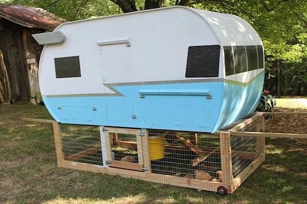 A Chicken Coop Made From a Caravan
