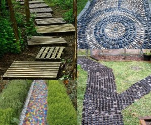 Ten Amazing Garden Paths Made From Recycled Things