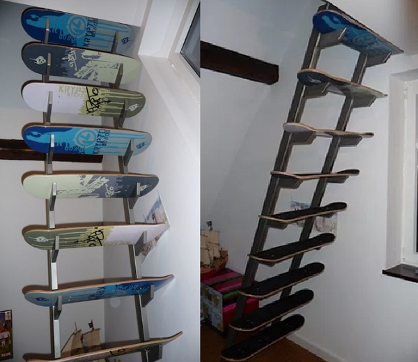 A Staircases Made From Skateboards