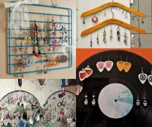 Ten Amazing Earring Holders Made From Recycled Things