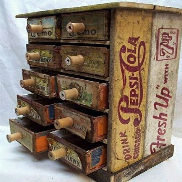 A Jewellery Box Made From Wooden Bottle Crates