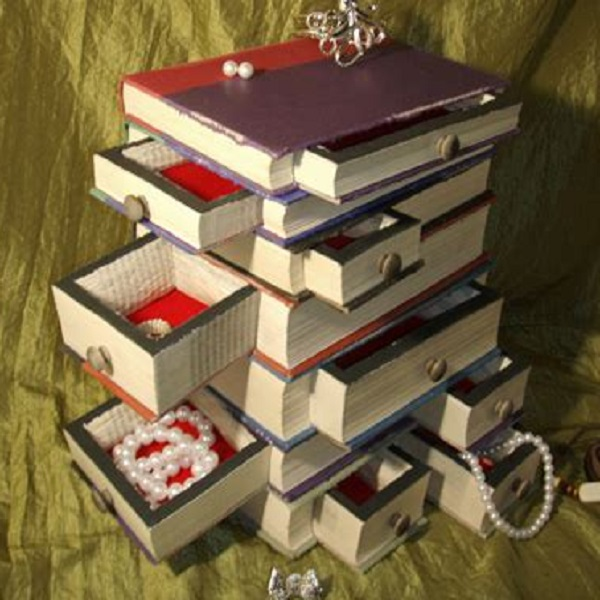 A Jewellery Box Made From Old Books